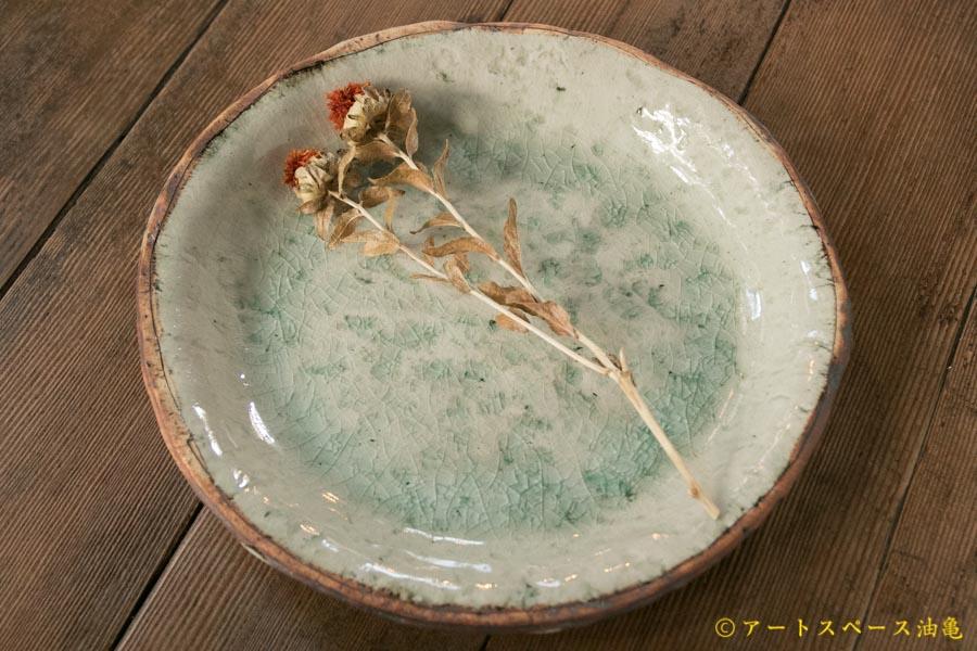画像1: 加藤祥孝 灰釉 カレー皿 27cm