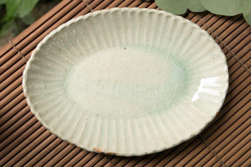 画像3: 加藤祥孝 灰釉 7.5寸楕円輪花深皿