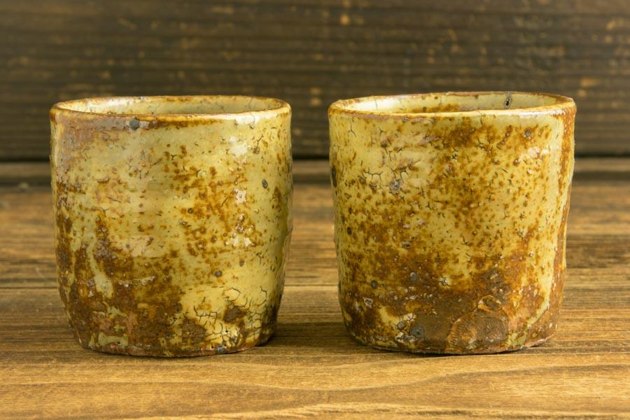 画像2: 工藤和彦 黃粉引筒湯呑 小