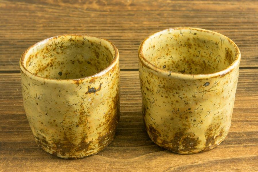 画像3: 工藤和彦 黃粉引筒湯呑 小