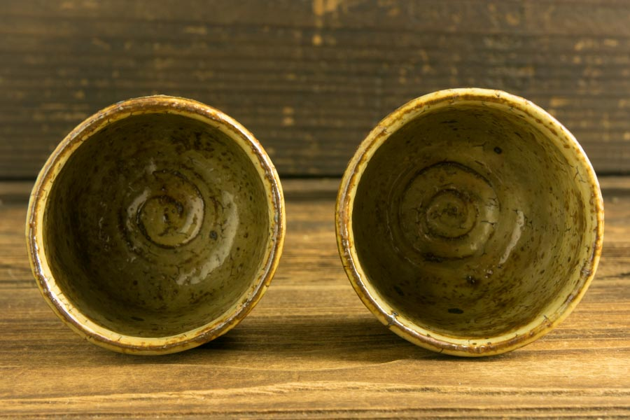 画像4: 工藤和彦 黃粉引筒湯呑 小