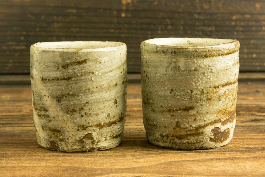 画像2: 工藤和彦「白樺刷毛目筒湯呑(小)」