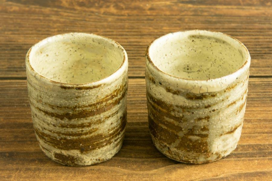 画像3: 工藤和彦「白樺刷毛目筒湯呑(小)」