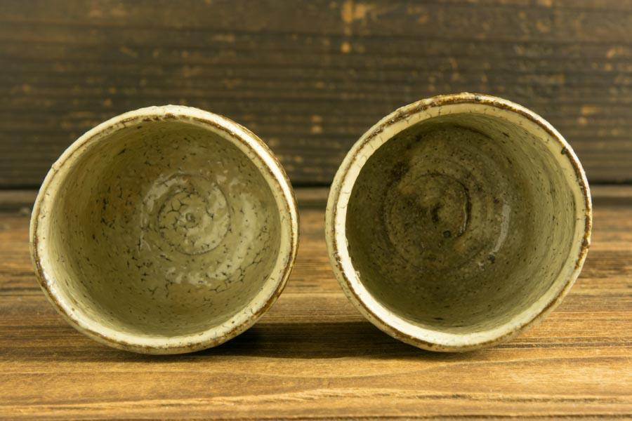 画像4: 工藤和彦「白樺刷毛目筒湯呑(小)」