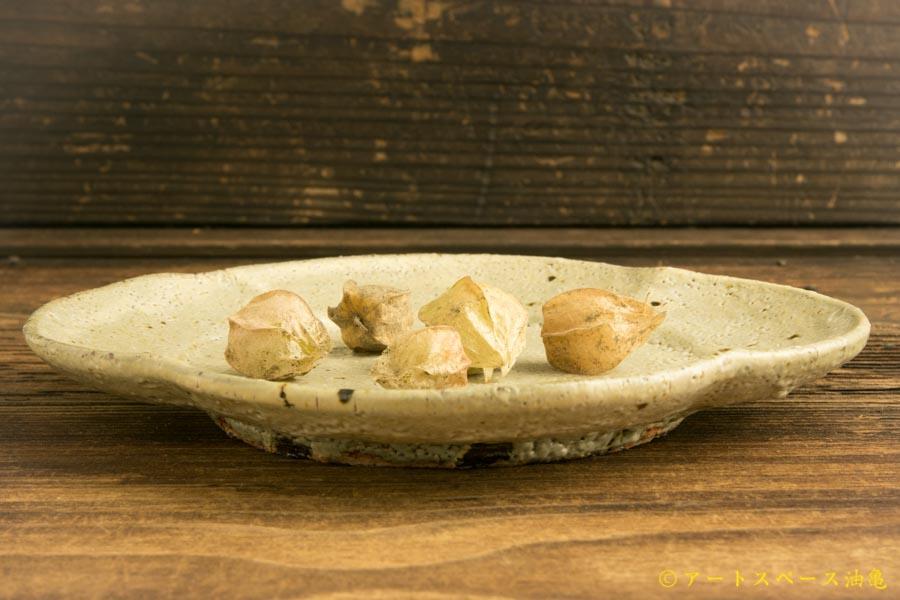 画像2: 工藤和彦「松井農園マスカット オブ アレキサンドリア灰 木瓜皿」