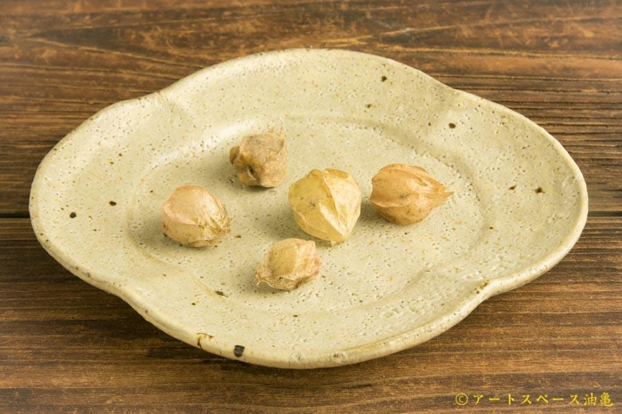 画像1: 工藤和彦「松井農園マスカット オブ アレキサンドリア灰 木瓜皿」