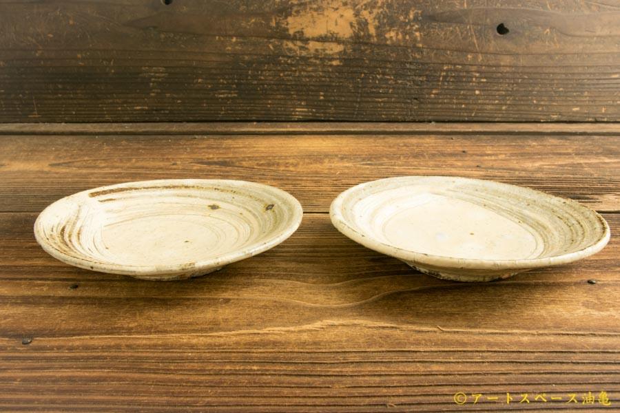 画像2: 工藤和彦「ふち白樺刷毛目5寸皿」