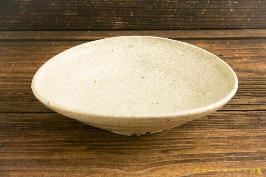 画像2: 工藤和彦「白樺ホワイト たわみ中鉢」