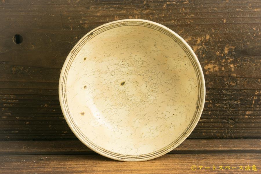 画像2: 工藤和彦「白樺ホワイトふち刻線平鉢」