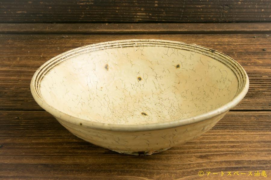 画像1: 工藤和彦「白樺ホワイトふち刻線平鉢」