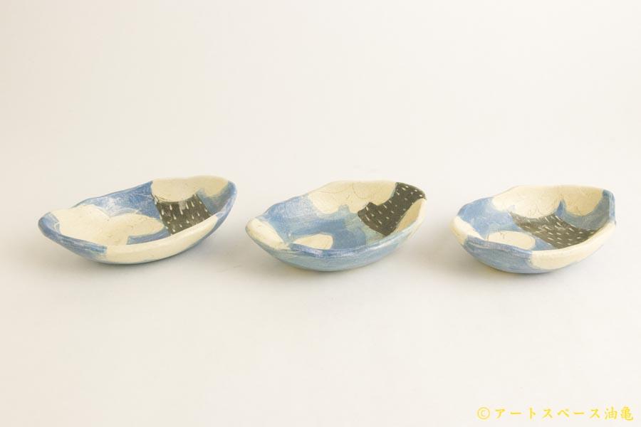 画像3: シマシマポタリ「かたぶい 楕円小鉢」