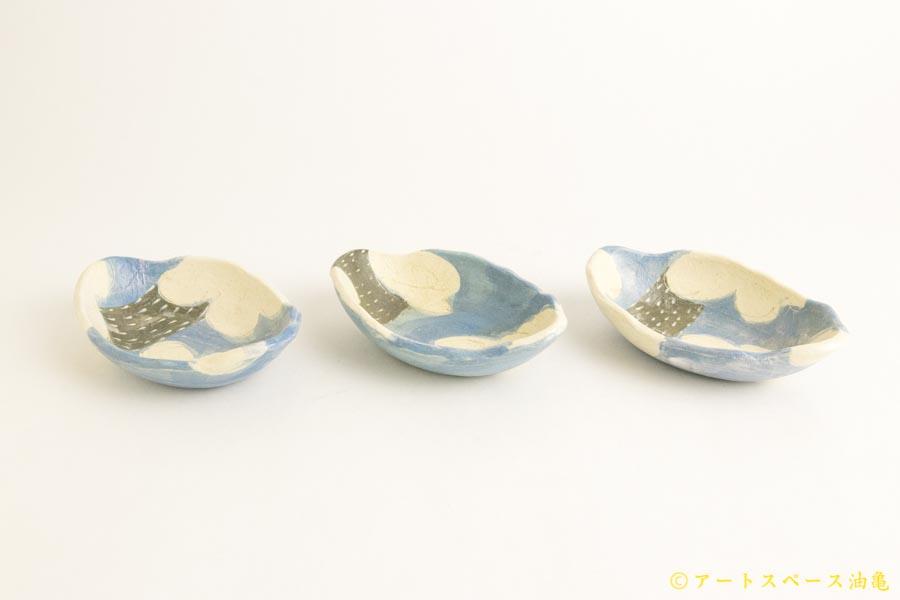 画像2: シマシマポタリ「かたぶい 楕円小鉢」