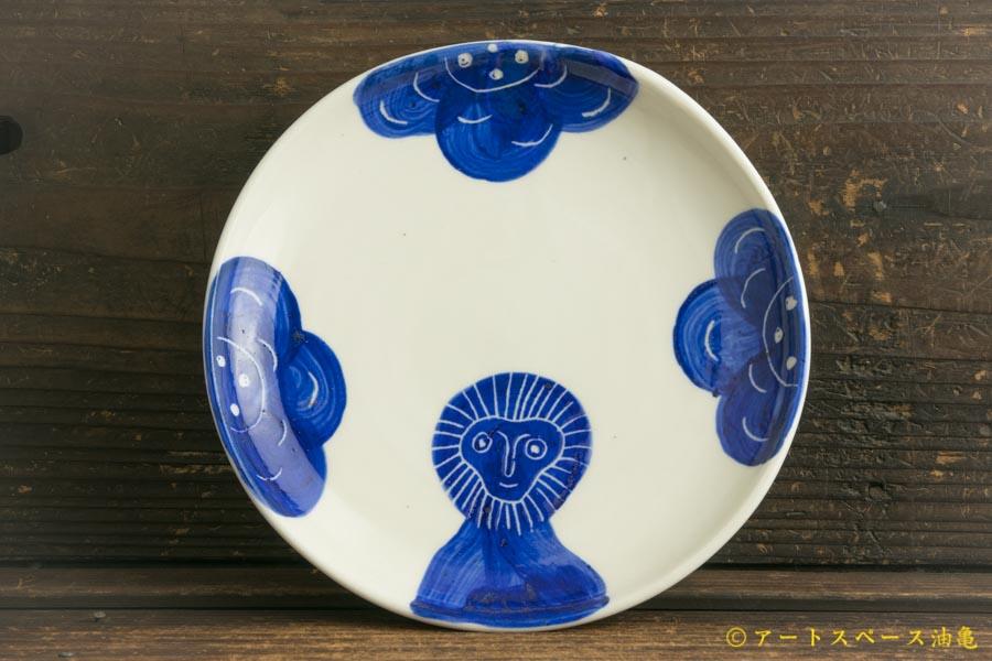 画像1: 増田光「青動物皿」