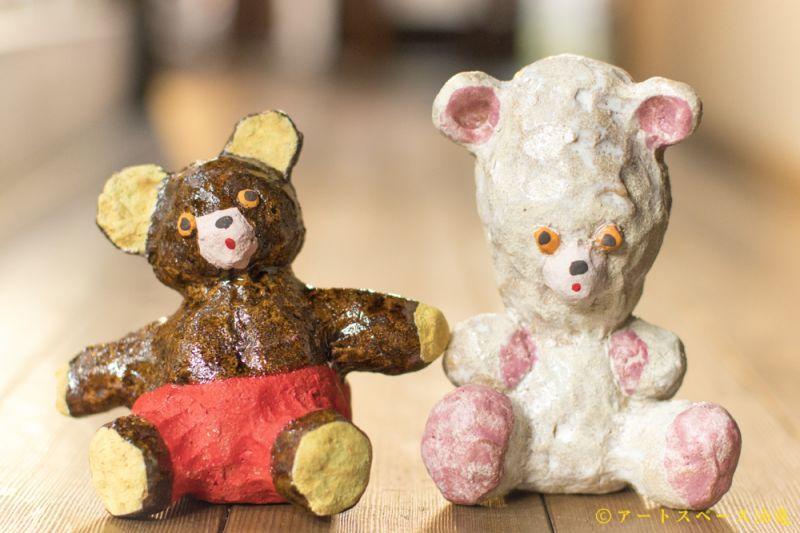 油亀のweb通販「油亀ジャーナル」より愛知県の陶芸家、増田光さんのぬいぐるみくま