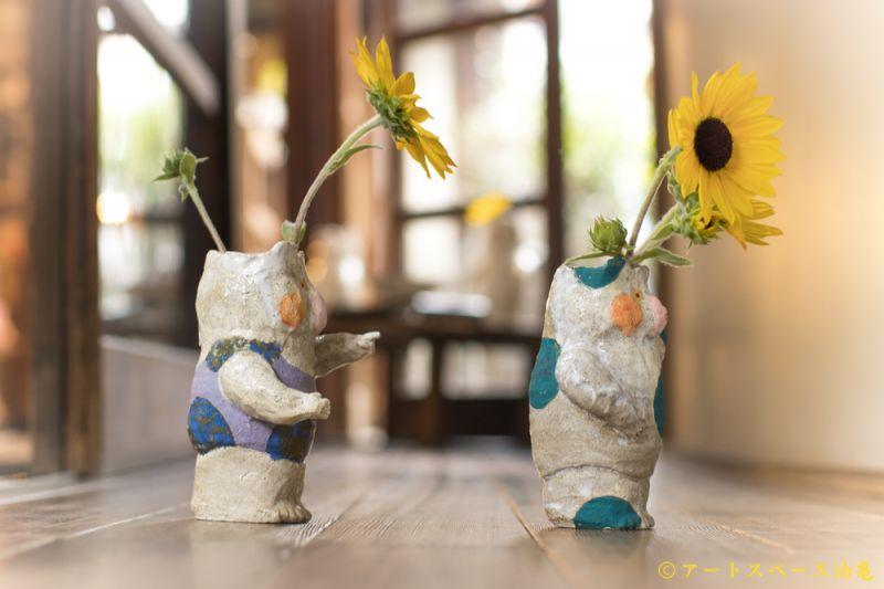 画像3: 増田光「ポージングくま花器」