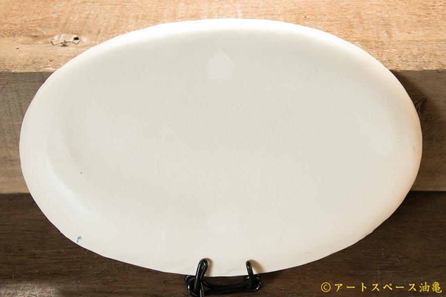 画像2: 増田光 青白長楕円皿 キツネ