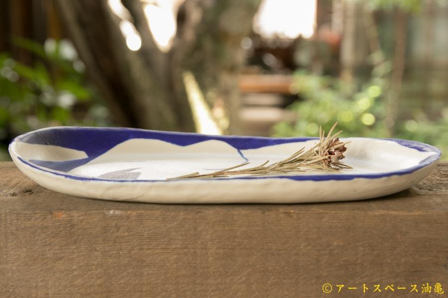 画像4: 増田光 青白長楕円皿 ゾウ