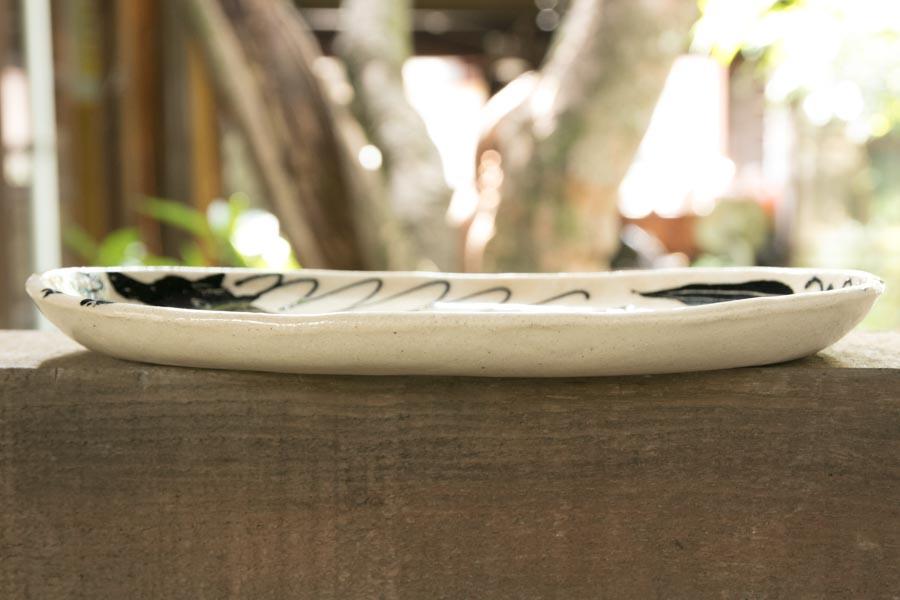 画像4: 増田光 白黒長楕円皿 ウマ