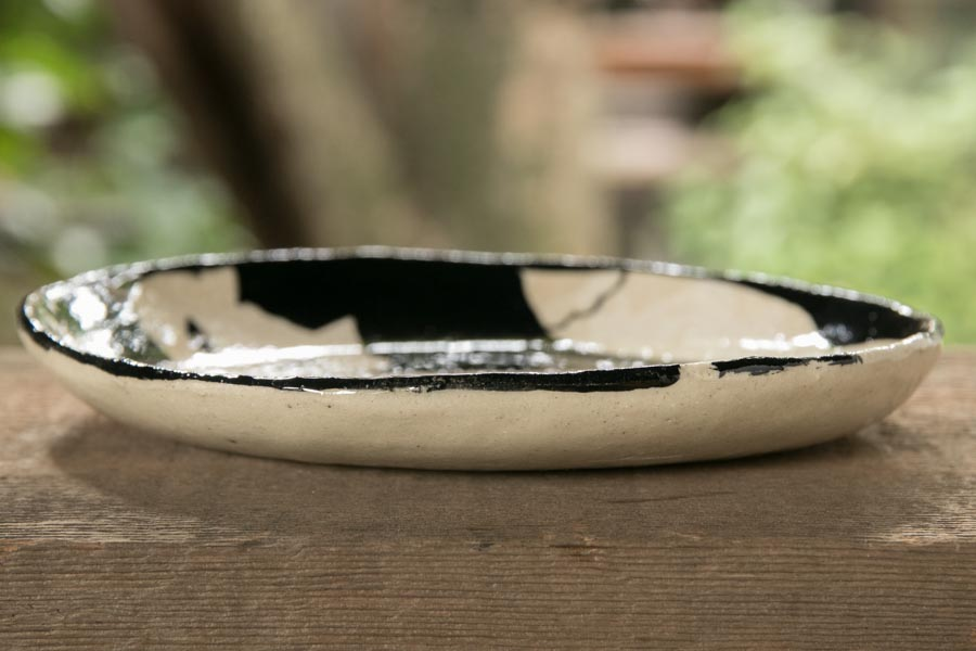 画像4: 増田光 白黒楕円皿(小)キツネ