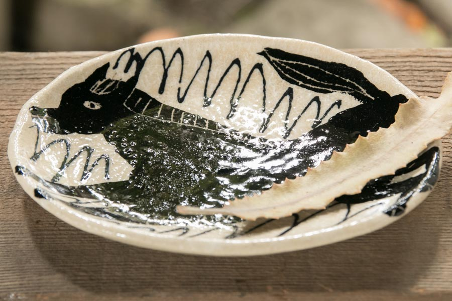 画像3: 増田光 白黒楕円皿(小)ウマ