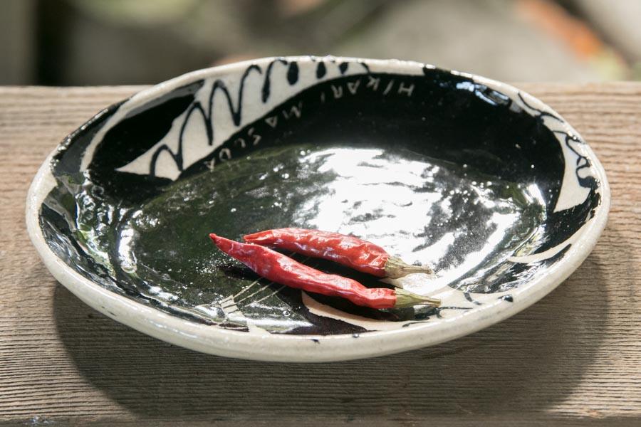 画像3: 増田光 白黒楕円皿(小)ウサギ