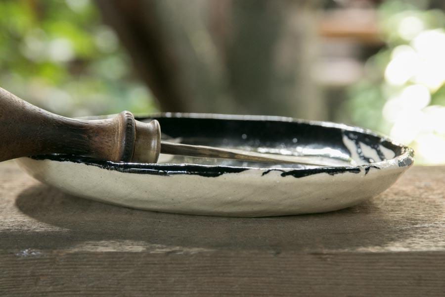 画像4: 増田光 白黒楕円皿(小)ウマ