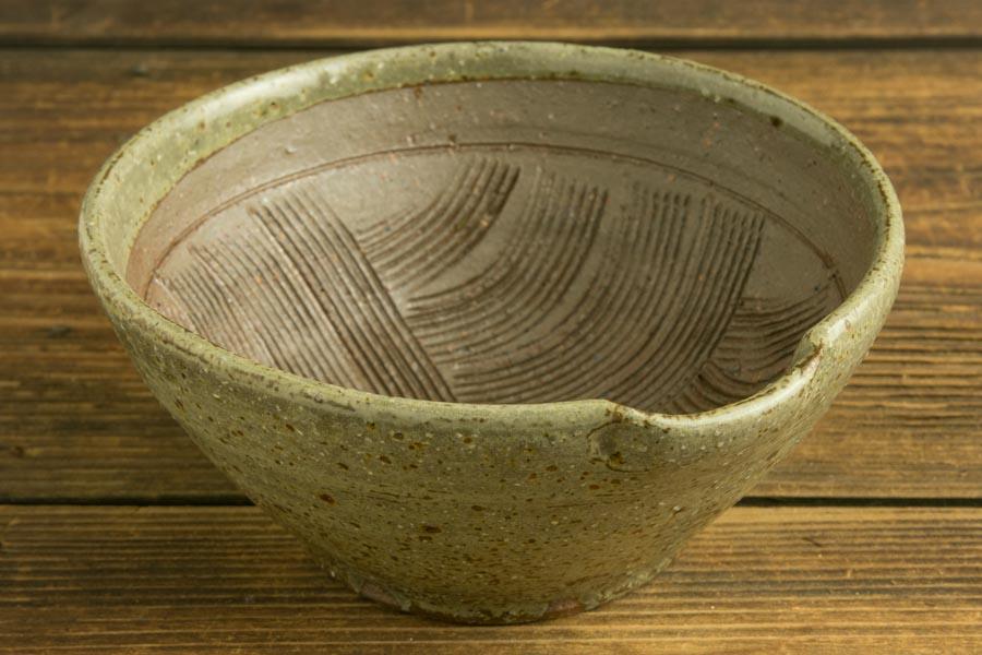 画像1: 馬渡新平 フルーツオリーブ すり鉢5寸【アソート】