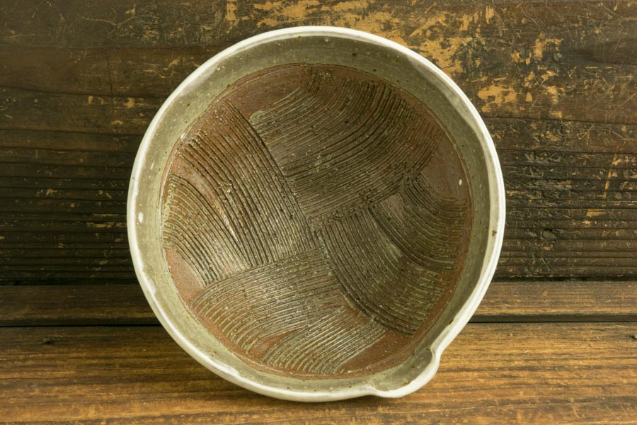 画像4: 馬渡新平 フルーツ粉引き すり鉢5寸