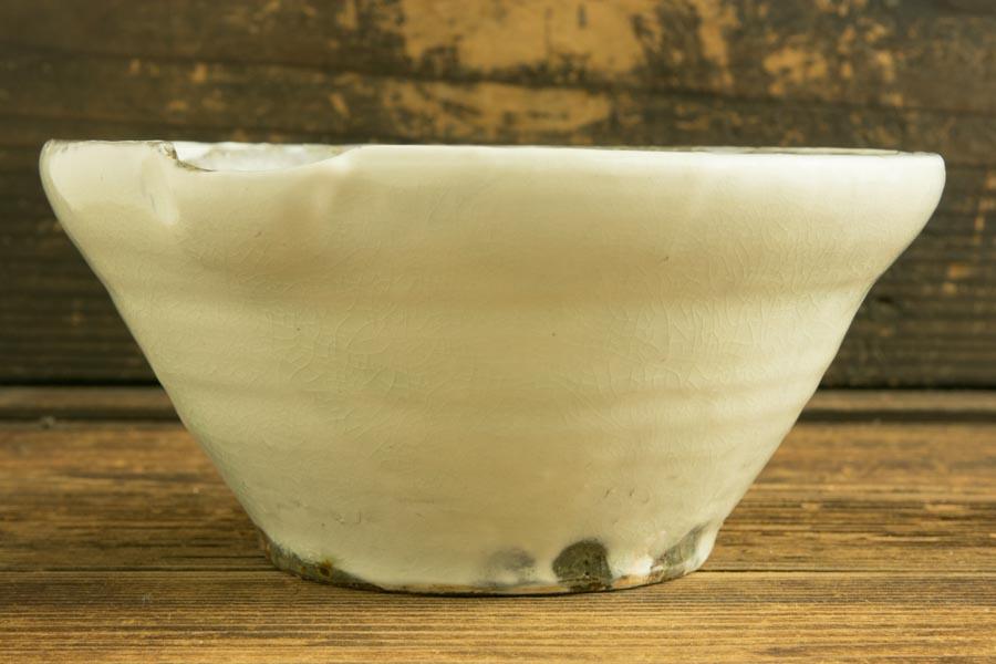 画像2: 馬渡新平 フルーツ粉引き すり鉢5寸