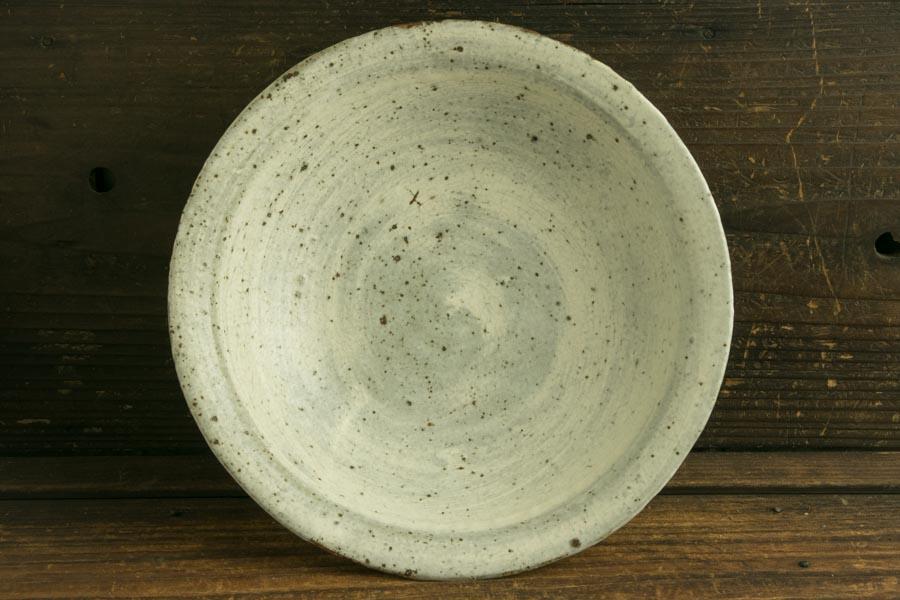 画像1: 馬渡新平 刷毛目 カレー皿7.5寸