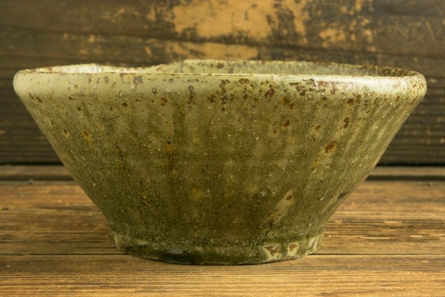画像3: 馬渡新平「フルーツ緑灰釉 すり鉢6寸」