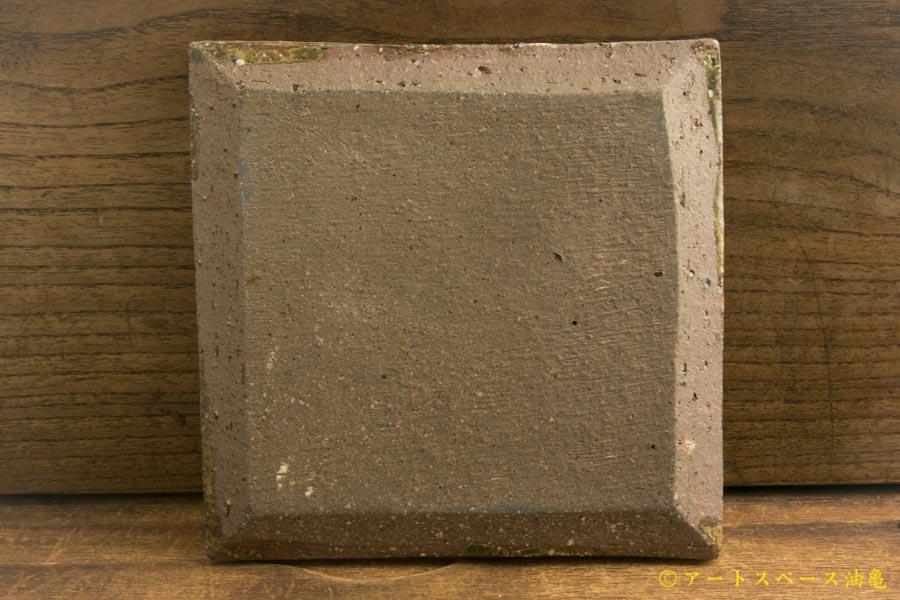 画像4: 馬渡新平「ヒビ粉引き 四角板皿4寸」