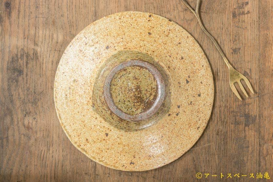 画像4: 馬渡新平 ヒビ粉引き 洋皿6.5寸