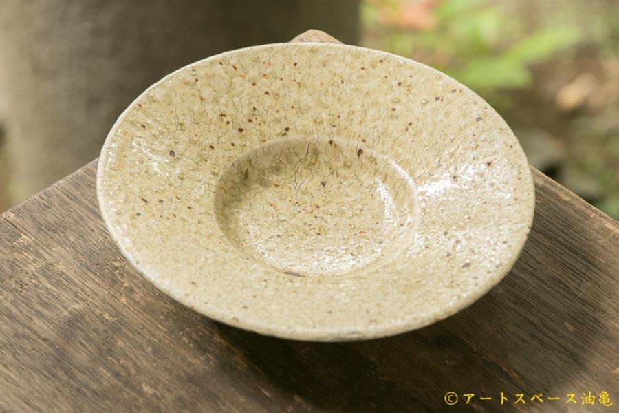 画像3: 馬渡新平 ヒビ粉引き 洋皿6.5寸