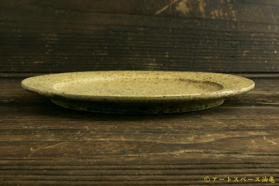 画像3: 馬渡新平「ヒビ粉引き 7.5寸リム皿」