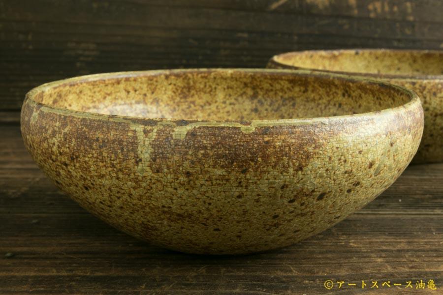 画像1: 馬渡新平「ひび粉引 6寸丸鉢」