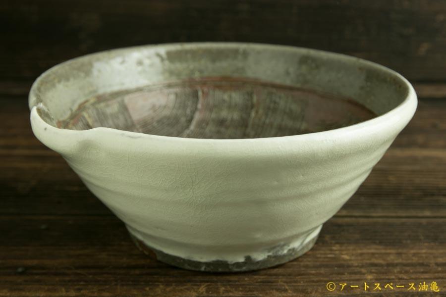 画像2: 馬渡新平「フルーツ粉引 すり鉢6寸」