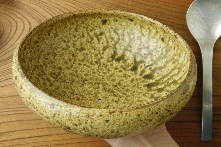 画像3: 馬渡新平「ヒビ粉引 6寸丸鉢」