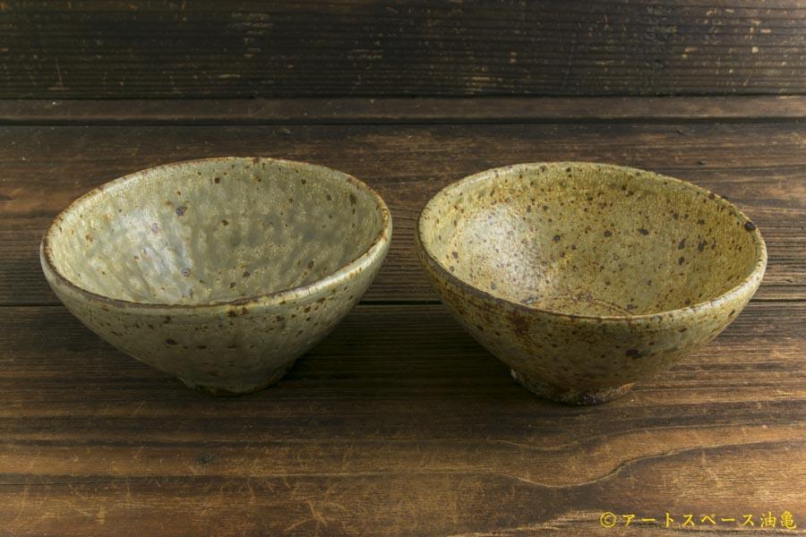 画像5: 馬渡新平「ヒビ粉引き めし碗」