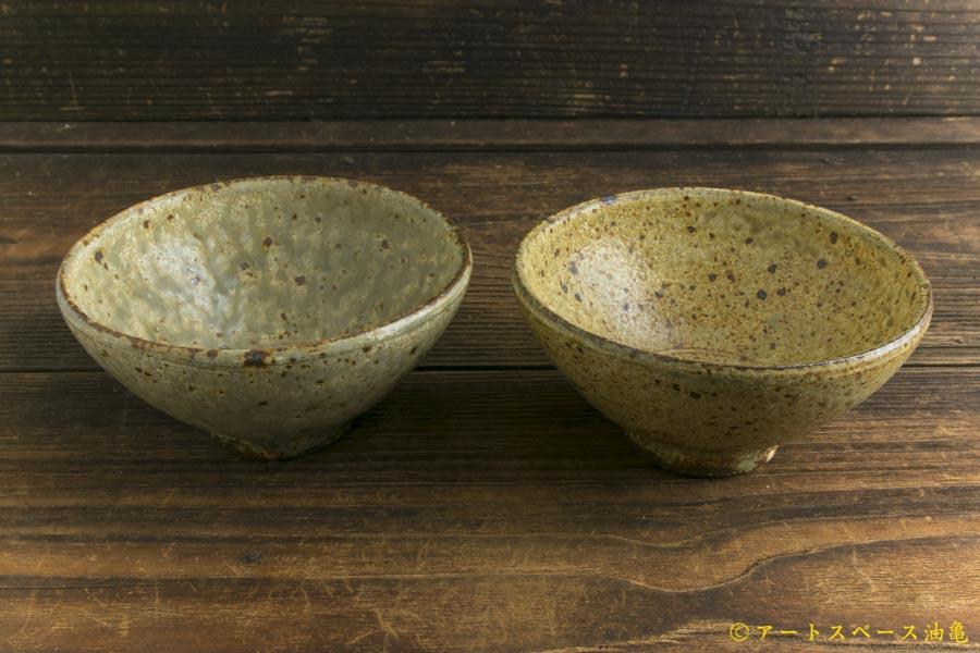 画像4: 馬渡新平「ヒビ粉引き めし碗」