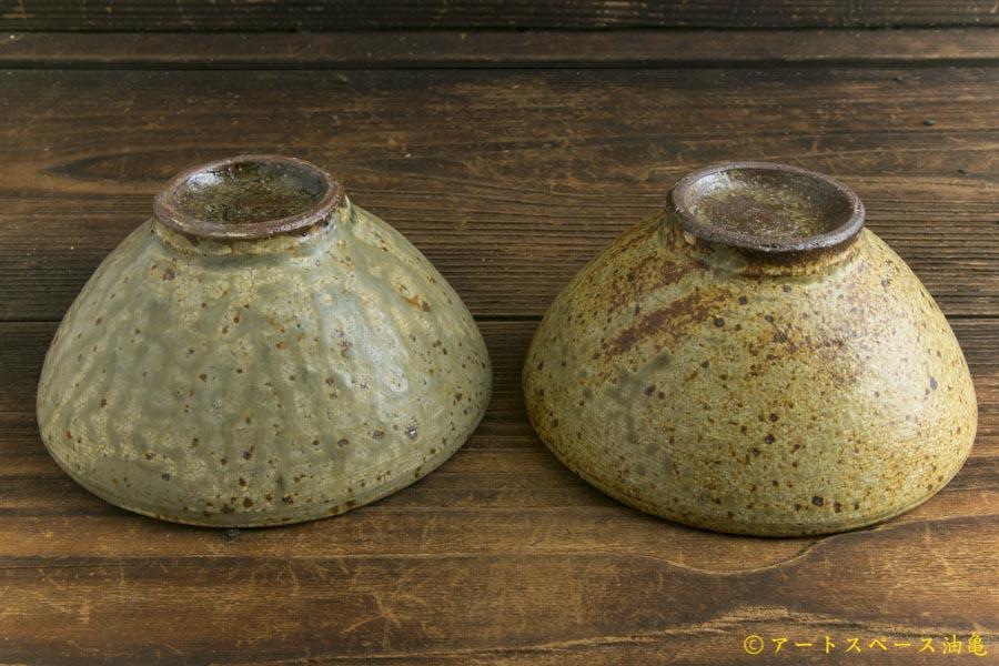 画像2: 馬渡新平「ヒビ粉引き めし碗」