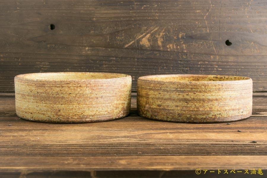 画像2: 馬渡新平「刷毛目 平鉢5寸」