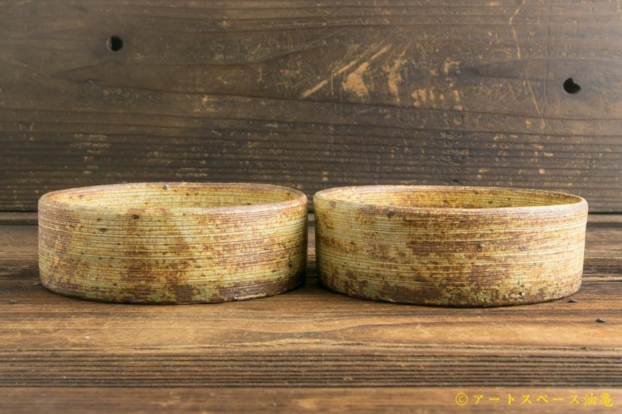 画像2: 馬渡新平「刷毛目 平鉢4.5寸」