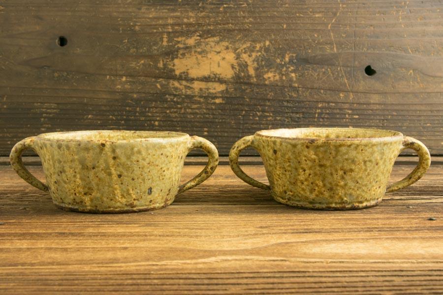 画像1: 馬渡新平「ヒビ粉引 スープ碗4寸」