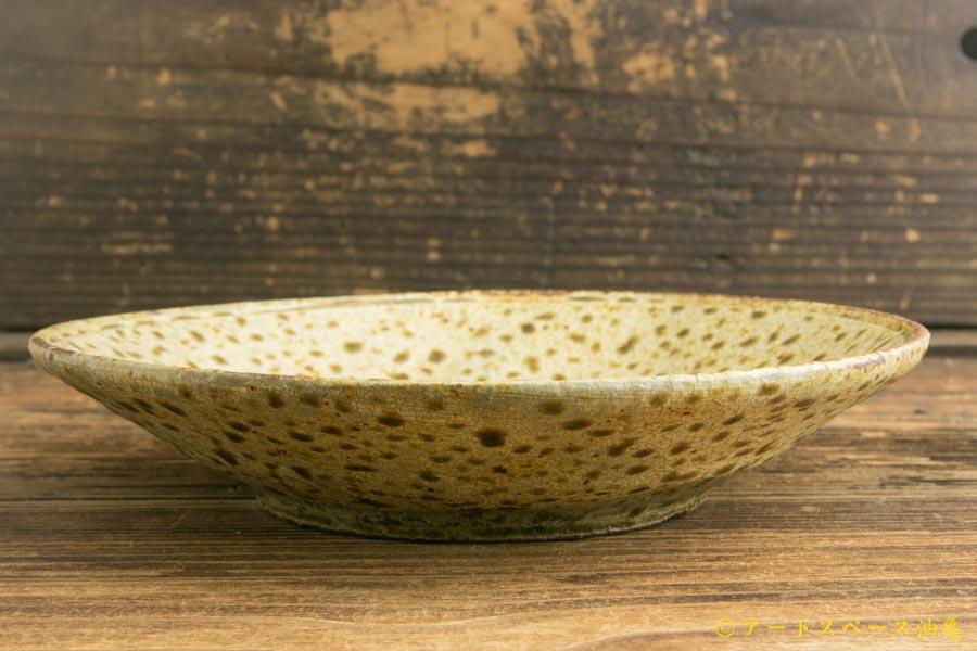 画像3: 馬渡新平「ヒビ粉引き 皿6寸」