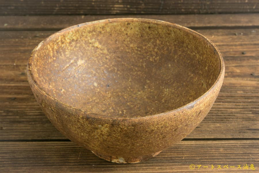 画像1: 馬渡新平「ヒビ粉引き 平鉢6寸」