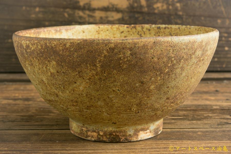 画像3: 馬渡新平「ヒビ粉引き 平鉢6寸」