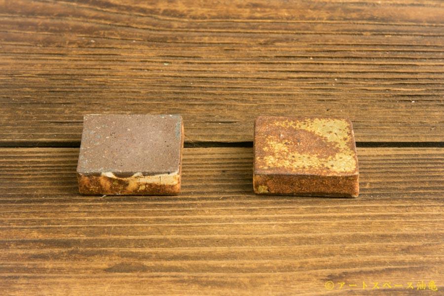 画像5: 馬渡新平「ヒビ粉引き 正角箸置き」アソート商品
