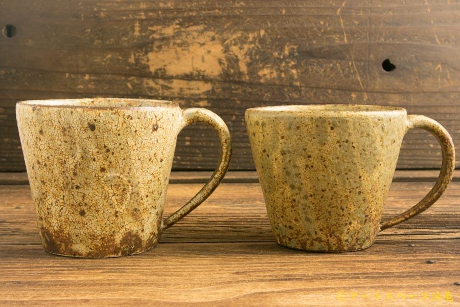画像1: 馬渡新平「ヒビ粉引き マグカップ」