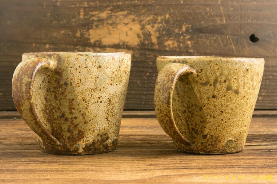 画像2: 馬渡新平「ヒビ粉引き マグカップ」